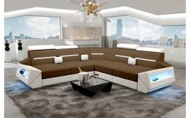 Canapé Design AVATAR CORNER avec éclairage LED & port USB