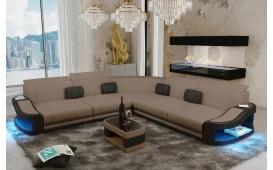 Canapé Design DIABLO CORNER avec éclairage LED & port USB