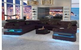 Designer Sofa EXODUS CORNER U FORM mit LED Beleuchtung & USB Anschluss-NATIVO™ Möbel Schweiz