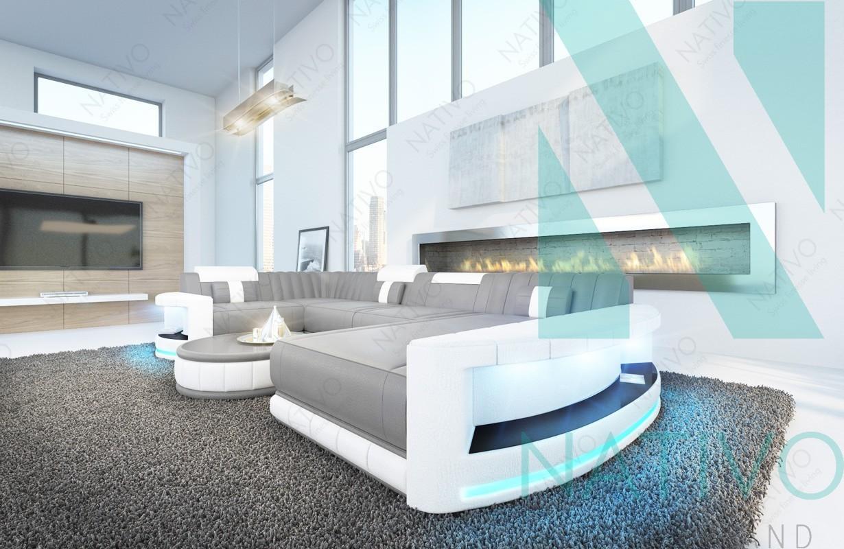 nativo mobilier design canap atlantis xl ac clairage led. Black Bedroom Furniture Sets. Home Design Ideas