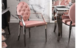 Chaise Design ROCCO ROSEE II AVEC LES ACCOUDOIRS