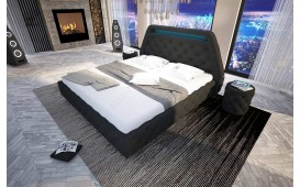 Lit Design ODYSSEY avec éclairage LED & port USB (Noir) EN STOCK-NATIVO™ design meubelen Nederland
