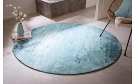 Tapis Design ABSTRUSE TURQUOISE ROUND-NATIVO™️ Möbel Schweiz