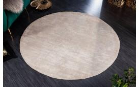 Designer Teppich ABSTRUSE BEIGE ROUND-NATIVO™️ Möbel Schweiz