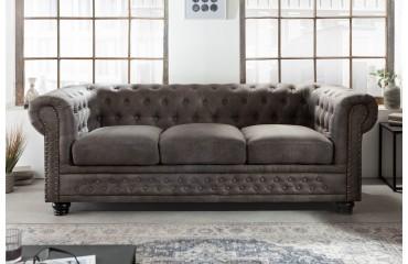 3 sitzer sofa CHESTERFIELD GREY-NATIVO™️ Möbel Schweiz