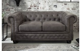 Canapé 2 place CHESTERFIELD GREY
