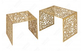 Designer Couchtisch MOZAIK GOLD SET 2-NATIVO™️ Möbel Schweiz