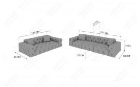 Designer Sofa VENUS 3+2 by ©iconX STUDIOS-NATIVO™️ Möbel Schweiz