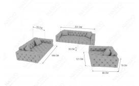 Canapé Design VENUS 3+2+1 by ©iconX STUDIOS-NATIVO™️ Möbel Schweiz