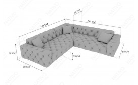 Canapé Design VENUS CORNER by ©iconX STUDIOS-NATIVO™️ Möbel Schweiz