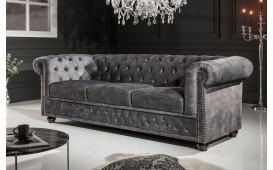 Canapé 3 place CHESTERFIELD GREY I