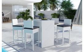 Set da bar Lounge in rattan CARSON giardino (5 pezzi) V1