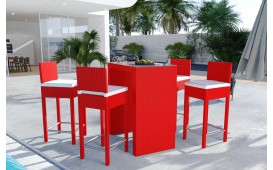 Rattan Lounge CARSON Bartischsatz (5tlg.) v1-NATIVO™️ Möbel Schweiz