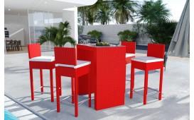 Set da bar Lounge in rattan CARSON giardino (5 pezzi) V1-NATIVO™️ Möbel Schweiz