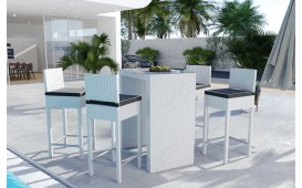 Rattan Lounge CARSON Bartischsatz (5tlg.) v2-NATIVO™️ Möbel Schweiz
