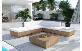 Set Lounge in rattan CORALE giardino (6 pezzi) V1