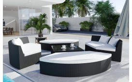 Rattan Lounge Garten Insel FELIX (6.tlg.) - v1