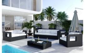 Set Lounge in rattan GROOVE giardino (5 pezzi) V2-NATIVO™️ Möbel Schweiz