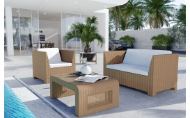 Set da bar Lounge in rattan HARMONY giardino (5 pezzi) V2-NATIVO™️ Möbel Schweiz