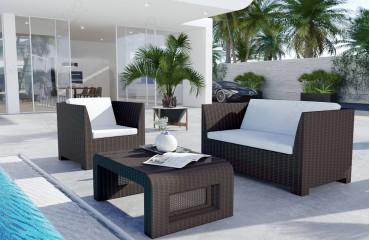 Rattan Lounge HARMONY Bartischsatz v2-NATIVO™️ Möbel Schweiz