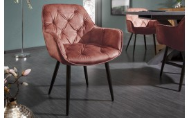 2 x Chaise design SLIM BROWN