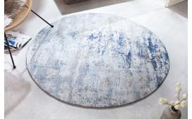 Designer Teppich ABSTRUSE BLUE ROUND-NATIVO™️ Möbel Schweiz