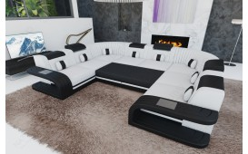 Canapé design ROYAL CORNER U FORM avec éclairage LED et port USB-NATIVO™️ Möbel Schweiz