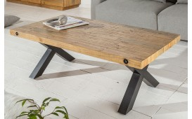 Designer Couchtisch THOR X 110 cm Pinienholz - NATIVO™ Möbel Schweiz