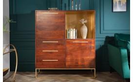 Designer Vitrine FLAT GOLD 120 cm - NATIVO™ Möbel Schweiz