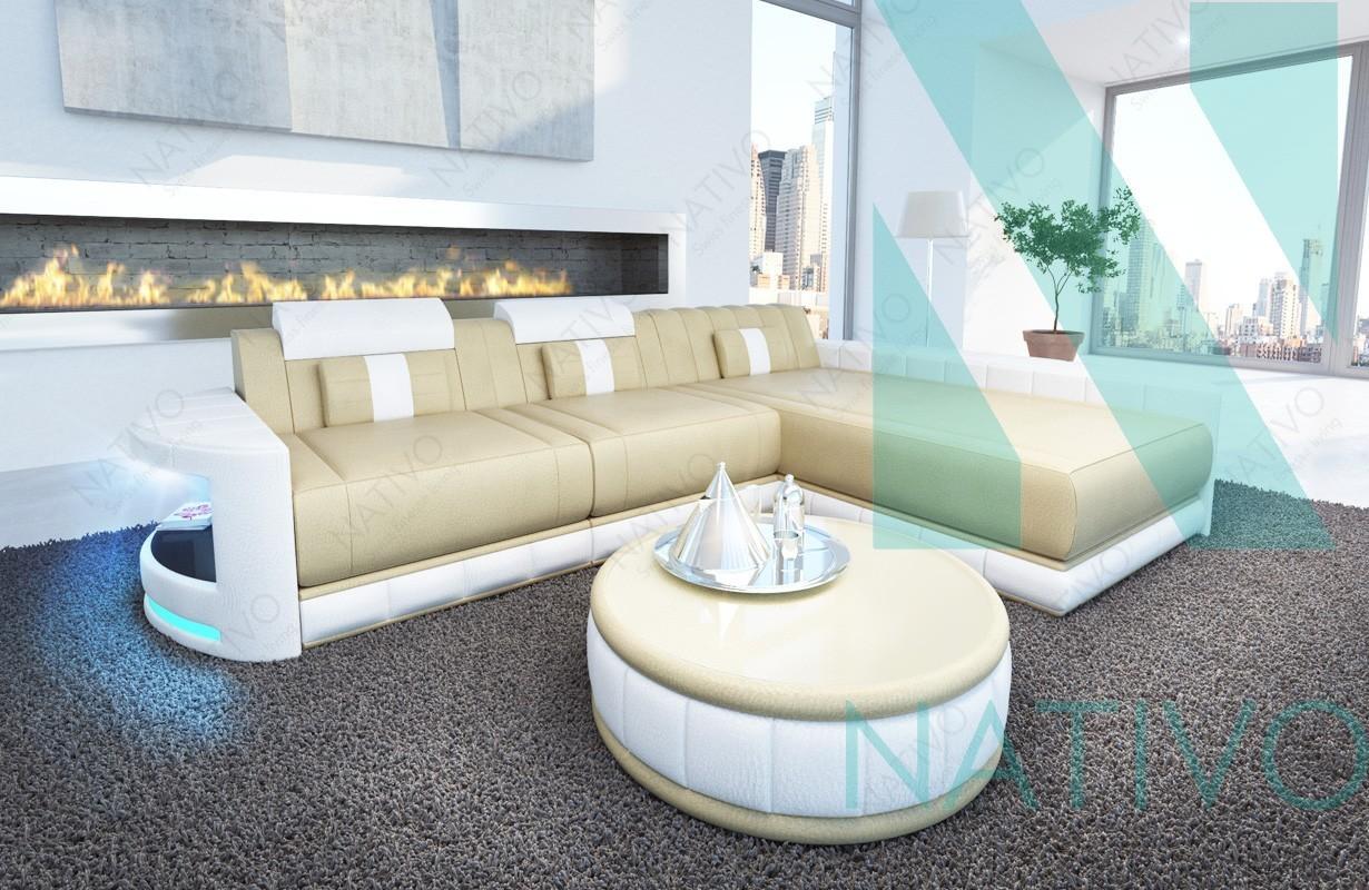 Ledersofa atlantis mini bei nativo m bel schweiz online kaufen for Designer ledersofa outlet