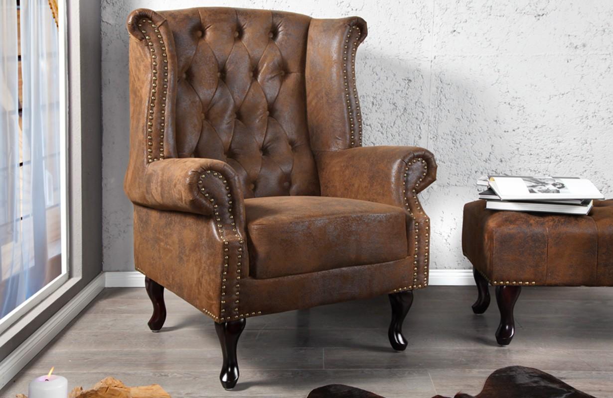 relaxsessel chesterfield antik designer bei nativo m bel schweiz g nstig kaufen. Black Bedroom Furniture Sets. Home Design Ideas