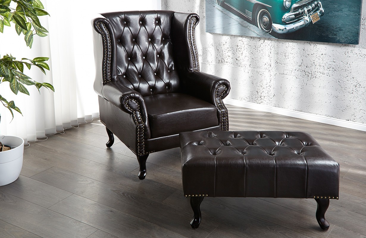 relaxsessel chesterfield coffee designer bei nativo m bel schweiz g nstig kaufen. Black Bedroom Furniture Sets. Home Design Ideas