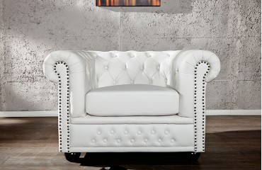 relaxsessel chesterfield white designer bei nativo m bel. Black Bedroom Furniture Sets. Home Design Ideas
