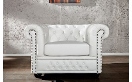 Fauteuil Relax CHESTERFIELD WHITE