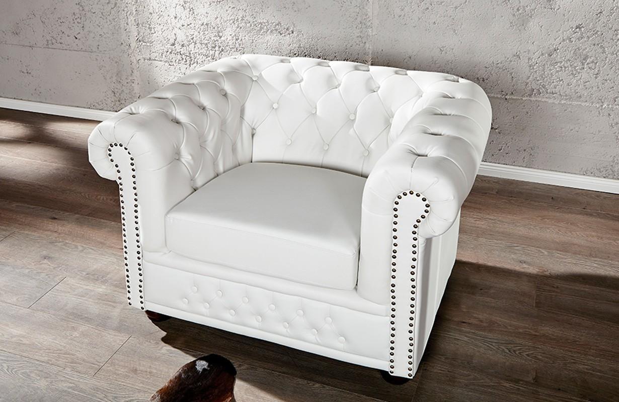Poltrona relax chesterfield white nativo mobili di design - Poltrona relax design ...