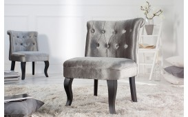 Designer Lounge Sessel JOSEPHINE SILVER