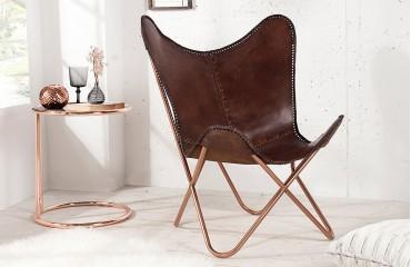 Designer Lounge Sessel ASTRA BROWN