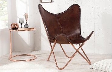 Designer Lounge Sessel ASTRA BROWN