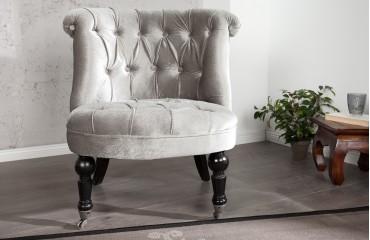 Designer Lounge Sessel JOSEPH SILVER
