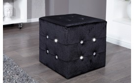 Pouf di design DIAMONDS BLACK