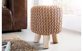 Designer Sitzhocker KNITTED LIGHT