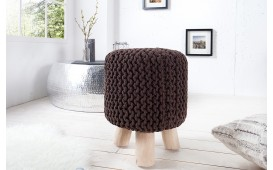 Pouf di design KNITTED COFFEE
