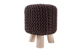 Designer Sitzhocker KNITTED COFFEE