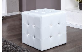 Pouf di design DIAMONDS WHITE