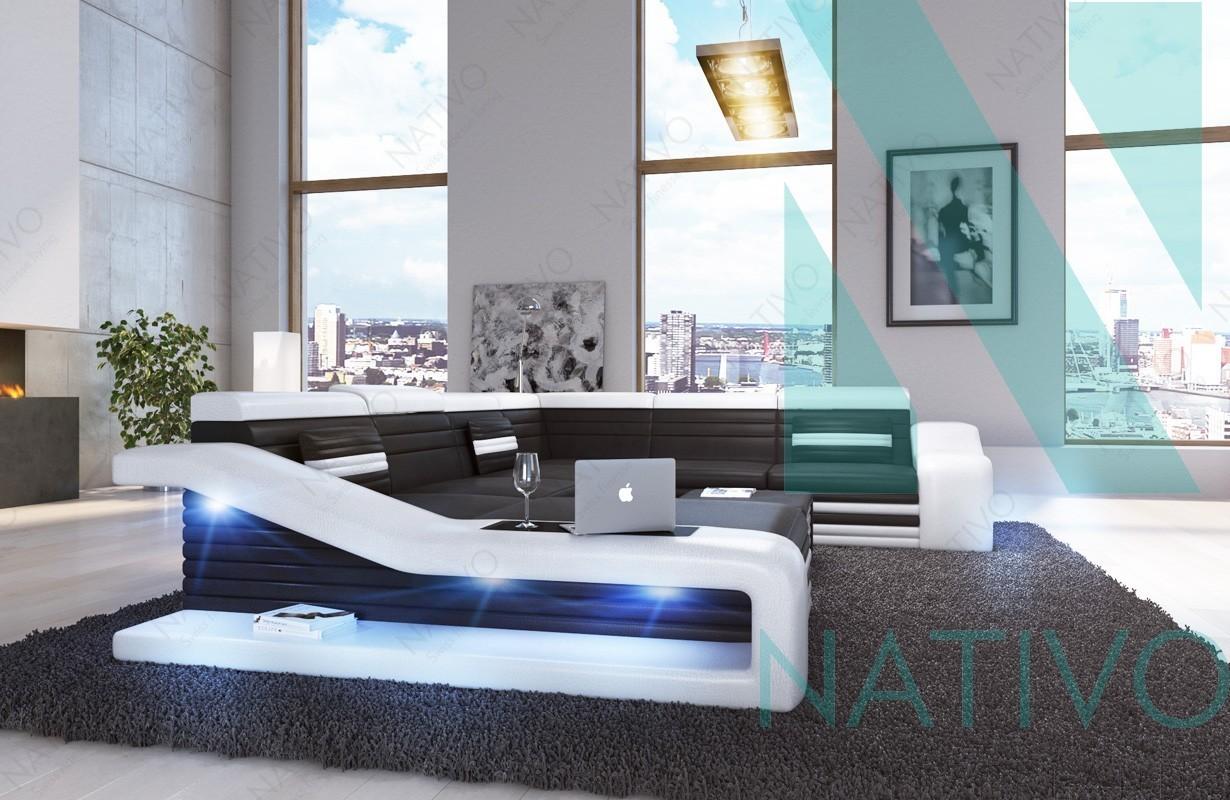 edles ledersofa mirage xxl bei nativo m bel schweiz online bestellen. Black Bedroom Furniture Sets. Home Design Ideas