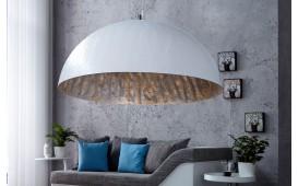 Designer Hängeleuchte WOK XL WHITE SILVER