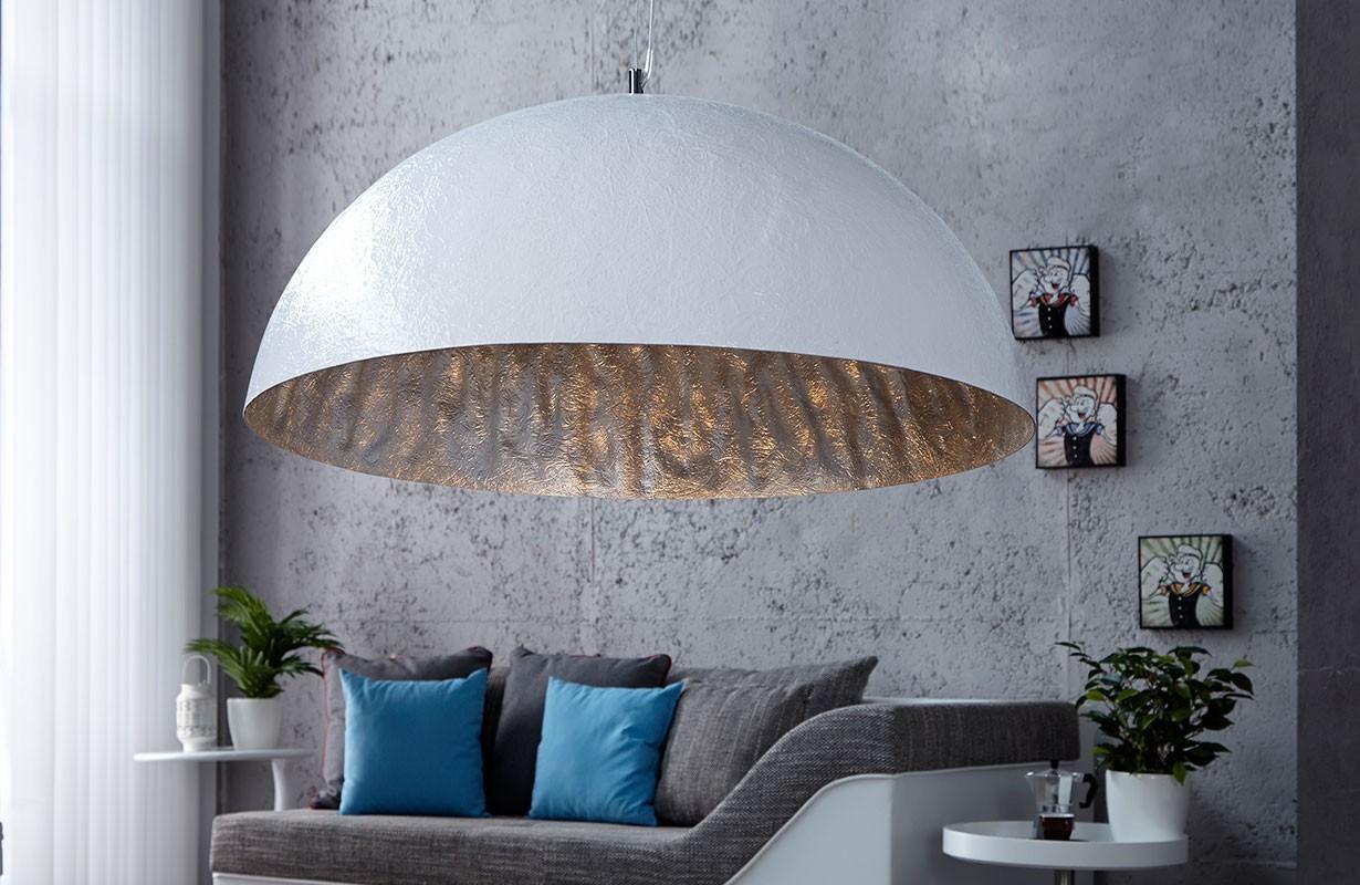 Lampade sospensione catalogo wok xl white silver nativo mobili