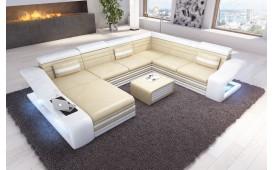 Designer Sofa MIRAGE XXL mit LED Beleuchtung