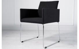 Designer Stuhl PALERMO mit Strukturstoff schwarz-anthrazit