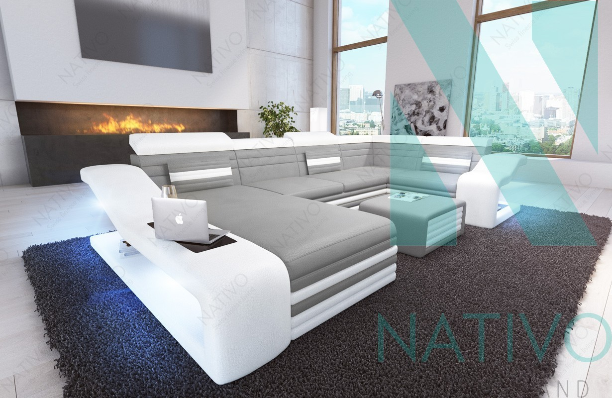 Nativo mobilier design canap mirage xl ac clairage led for Canape nativo